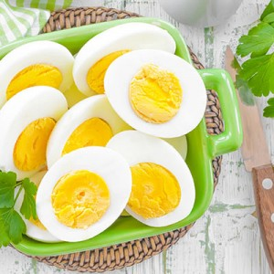 Hard Boiled and Peeled Eggs Product
